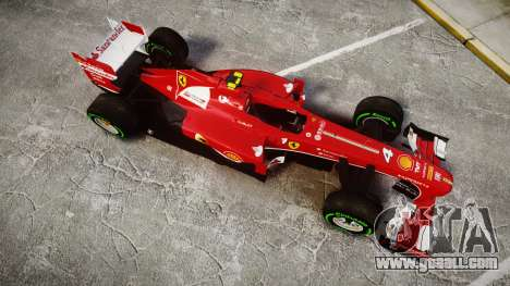 Ferrari F138 v2.0 [RIV] Massa TIW for GTA 4 right view