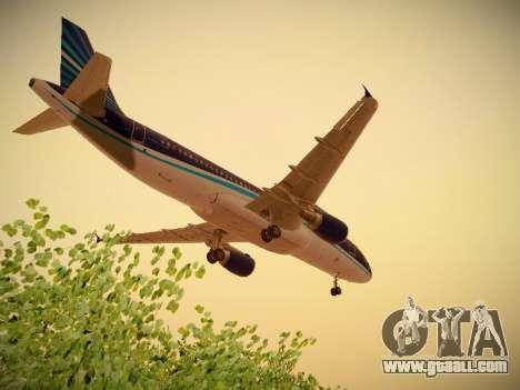 Airbus A320-214 Azerbaijan Airlines AZAL for GTA San Andreas upper view