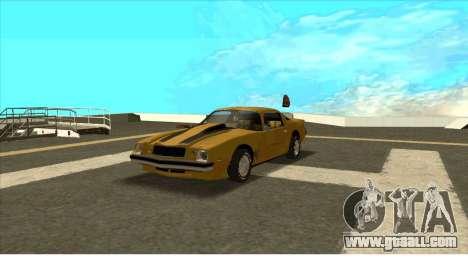 Chevrolet Camaro Z28 Bumblebee for GTA San Andreas