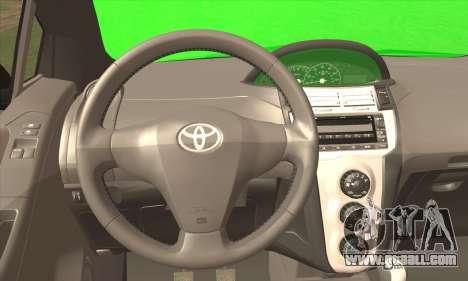 Toyota Yaris Shark Edition for GTA San Andreas back left view