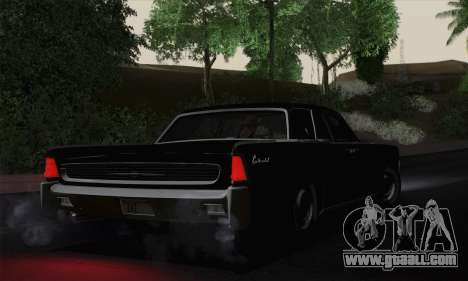 Lincoln Continental Sedan (53А) 1962 for GTA San Andreas left view