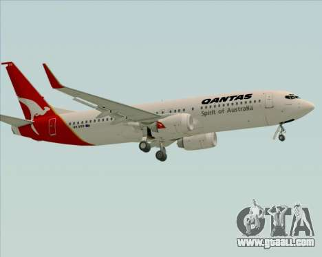 Boeing 737-838 Qantas (Old Colors) for GTA San Andreas upper view