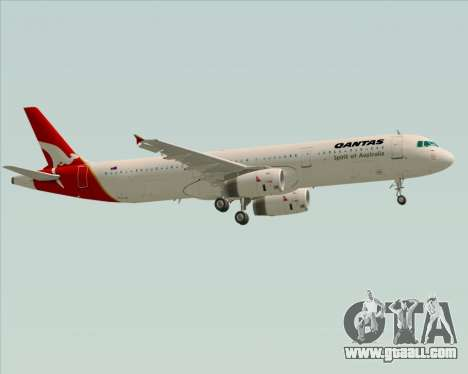 Airbus A321-200 Qantas for GTA San Andreas upper view