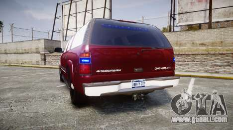 Chevrolet Suburban Undercover 2003 Black Rims for GTA 4 back left view