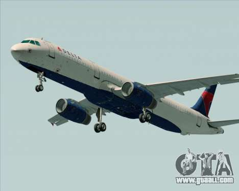 Airbus A321-200 Delta Air Lines for GTA San Andreas right view