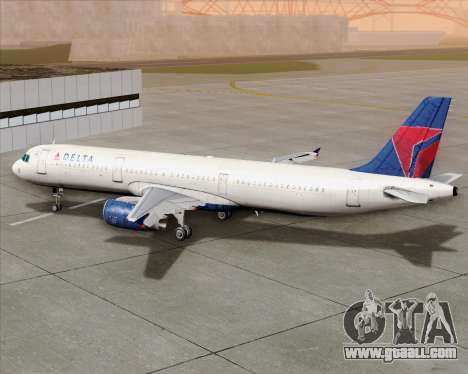 Airbus A321-200 Delta Air Lines for GTA San Andreas upper view