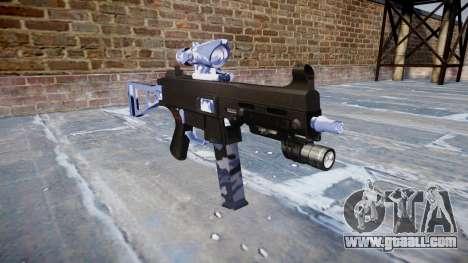 Gun UMP45 Blue Tiger for GTA 4