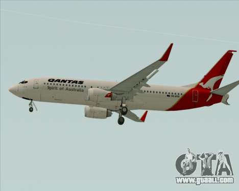 Boeing 737-838 Qantas (Old Colors) for GTA San Andreas back view