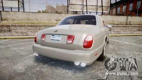 Bentley Arnage T 2005 Rims3 for GTA 4 back left view