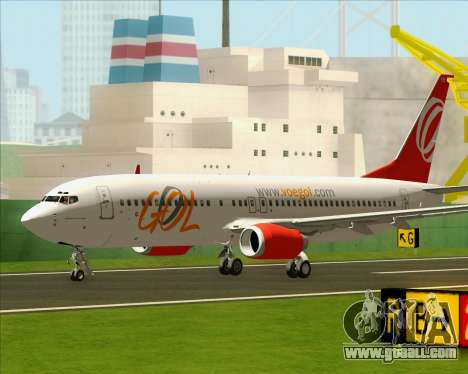 Boeing 737-800 Gol Transportes Aéreos for GTA San Andreas right view