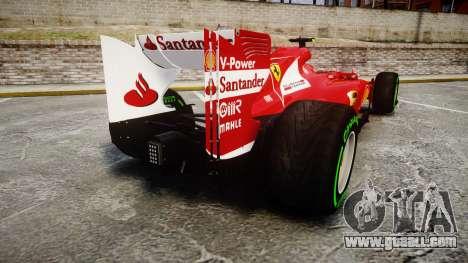 Ferrari F138 v2.0 [RIV] Massa TIW for GTA 4 back left view