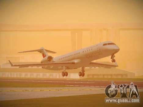 Bombardier CRJ-700 Air Canada Express for GTA San Andreas left view