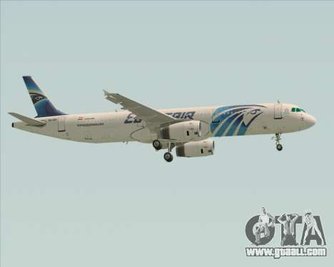 Airbus A321-200 EgyptAir for GTA San Andreas side view