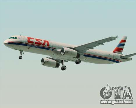 Airbus A321-200 CSA Czech Airlines for GTA San Andreas right view