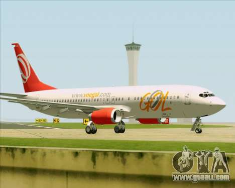 Boeing 737-800 Gol Transportes Aéreos for GTA San Andreas side view