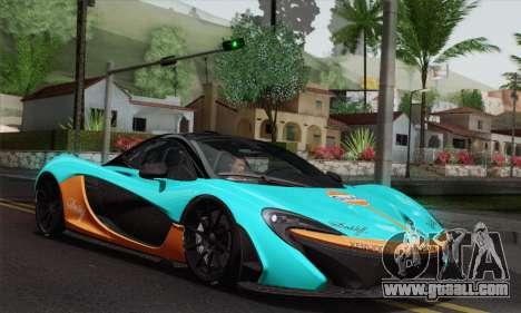 McLaren P1 HQ for GTA San Andreas upper view