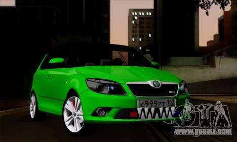 Skoda Fabia RS for GTA San Andreas
