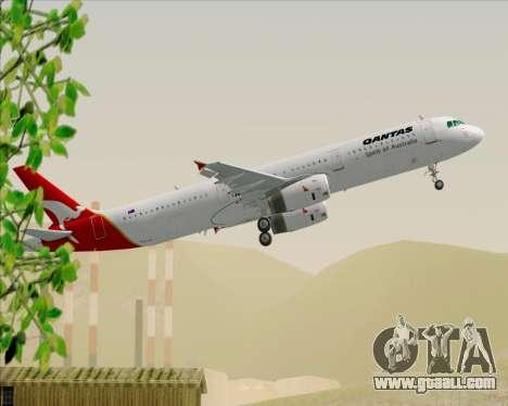 Airbus A321-200 Qantas for GTA San Andreas