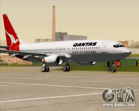 Boeing 737-838 Qantas (Old Colors) for GTA San Andreas side view