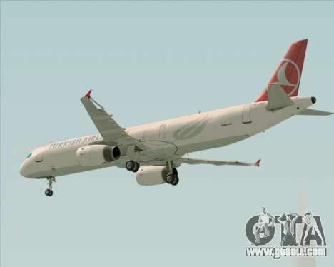Airbus A321-200 Turkish Airlines for GTA San Andreas upper view