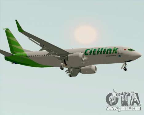 Boeing 737-800 Citilink for GTA San Andreas left view