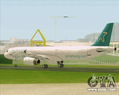 Airbus A321-200 Hansung Airlines for GTA San Andreas side view