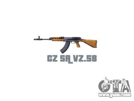 Machine CZ SA Vz.58 icon3 for GTA 4 third screenshot
