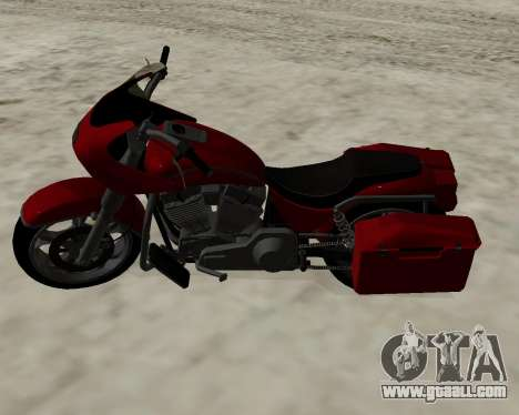 Bagger for GTA San Andreas back view