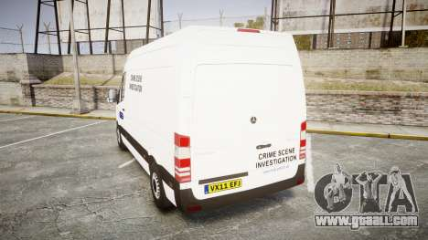 Mercedes-Benz Sprinter 311 cdi London Police for GTA 4 back left view