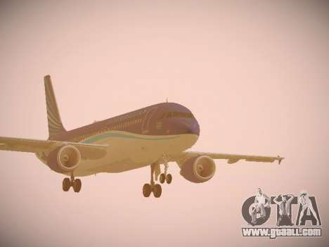 Airbus A320-214 Azerbaijan Airlines AZAL for GTA San Andreas left view
