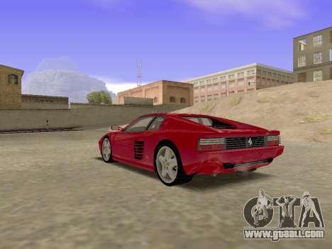 Ferrari 512TR for GTA San Andreas left view