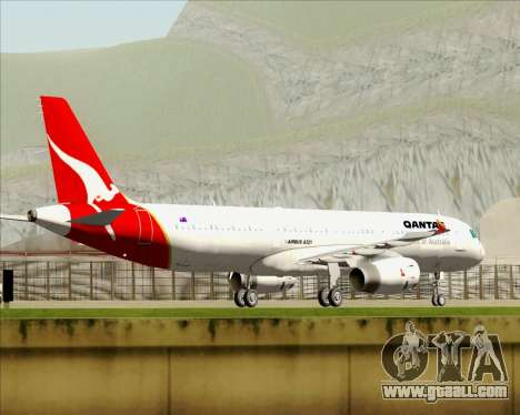Airbus A321-200 Qantas for GTA San Andreas engine
