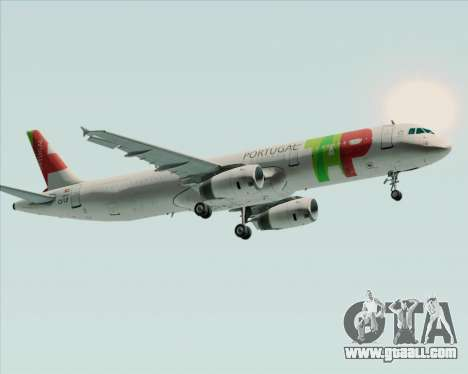 Airbus A321-200 TAP Portugal for GTA San Andreas side view