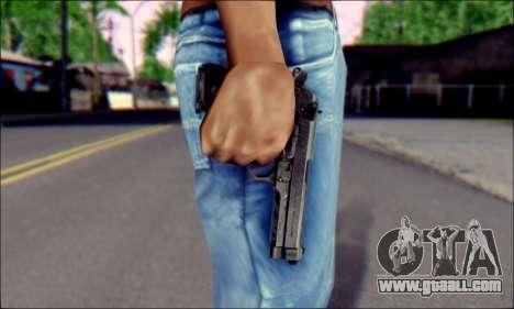 Beretta M92F for GTA San Andreas third screenshot