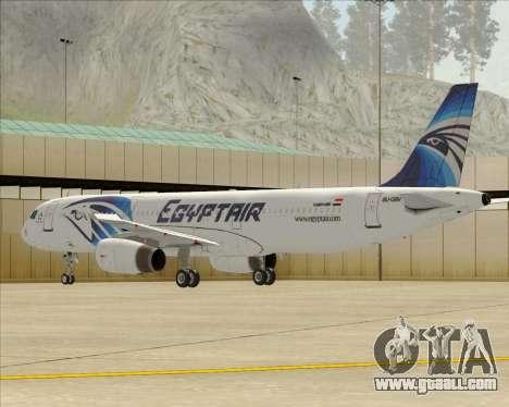Airbus A321-200 EgyptAir for GTA San Andreas wheels