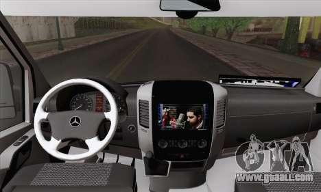 Mercedes-Benz Sprinter Etiket Kamyonet for GTA San Andreas back left view