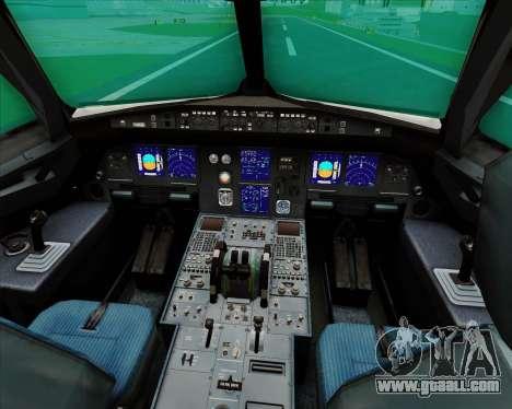 Airbus A321-200 Qantas for GTA San Andreas interior