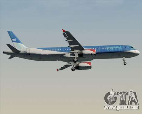 Airbus A321-200 British Midland International for GTA San Andreas inner view