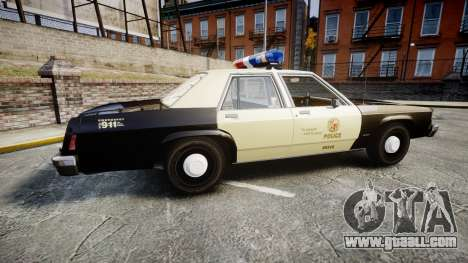 Ford LTD Crown Victoria 1987 LAPD [ELS] for GTA 4 left view