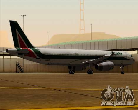 Airbus A321-200 Alitalia for GTA San Andreas bottom view