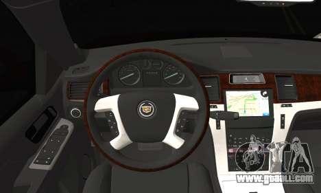 Cadillac Escalade ESV for GTA San Andreas back left view