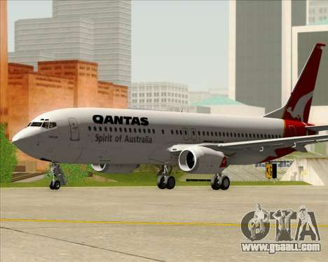 Boeing 737-838 Qantas (Old Colors) for GTA San Andreas left view
