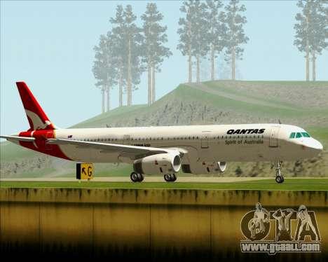 Airbus A321-200 Qantas for GTA San Andreas right view