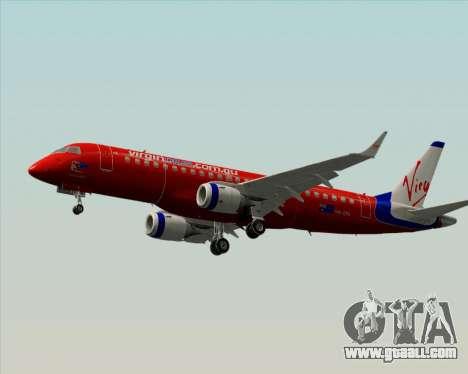 Embraer E-190 Virgin Blue for GTA San Andreas back left view
