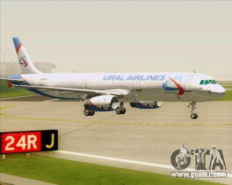 Airbus A321-200 Ural Airlines for GTA San Andreas bottom view