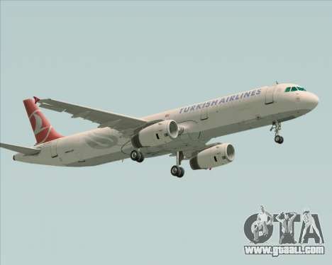 Airbus A321-200 Turkish Airlines for GTA San Andreas left view