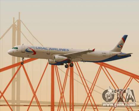 Airbus A321-200 Ural Airlines for GTA San Andreas upper view