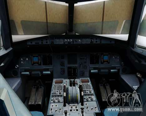 Airbus A320-232 United Airlines for GTA San Andreas interior