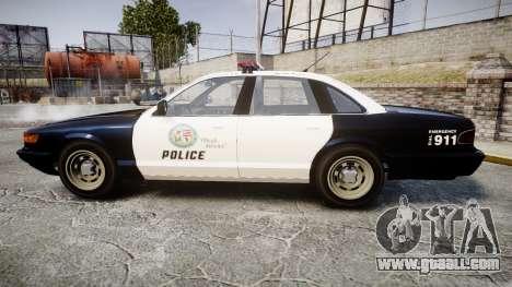 Vapid Police Cruiser GTA V LED [ELS] for GTA 4 left view