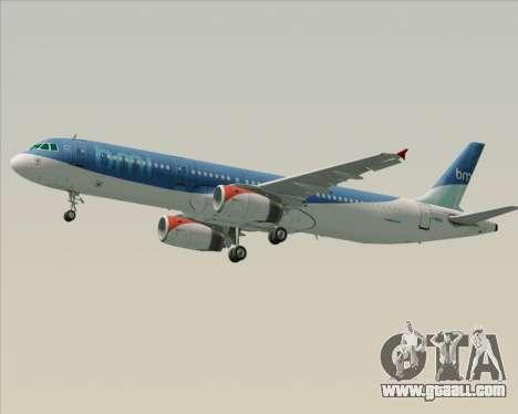 Airbus A321-200 British Midland International for GTA San Andreas wheels